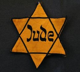 The Jewish star which all Jews aged over 6 years had to wear