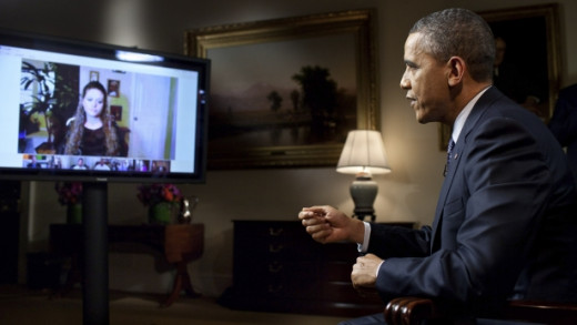 President Barack Obama at a Google Plus Hangout