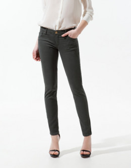 Satin Trousers in Khaki