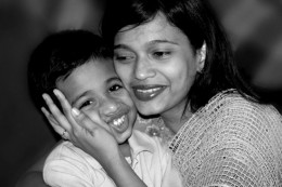 The happiest thing a mother can get is to see smile on the face of her kids. This is the most expensive gift a mother can get.