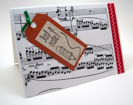 You do not have to use handmade cards, but your cards should reflect your business.