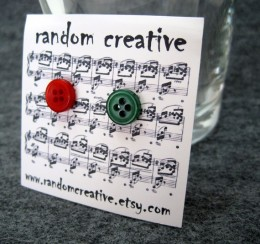 I include free button post earrings in all of my online holiday order packages.