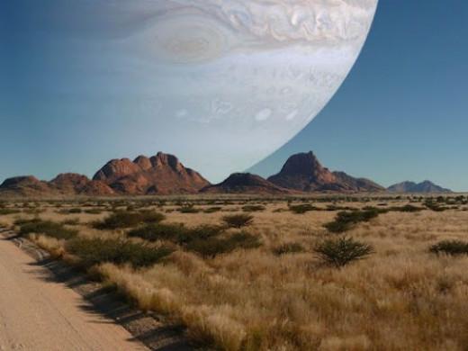 Jupiter As the Moon