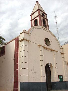 Zúñiga church destroyed by earthquake.