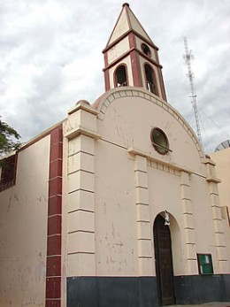 Zúñiga church destroyed by earthquake.