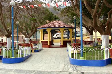 Small park in Zúñiga