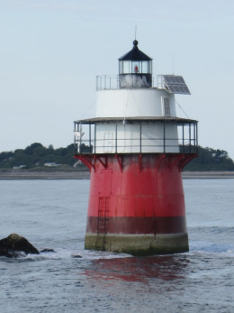 "Duxbury Pier Lighthouse, also known as ""Bug Light"" or just ""The Bug"""