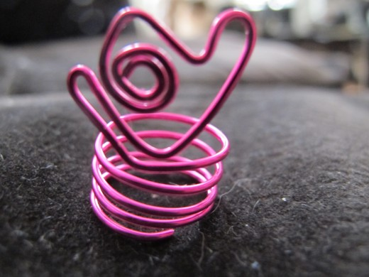 Hot pink heart ring
