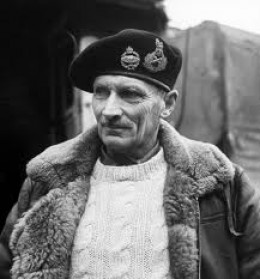 General - later Field Marshal - Montgomery in Italy before transfer to England for D-Day