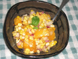 Delicious Corn And Mango Relish. This relish goes perfect with a grilled steak. Or grilled chicken.