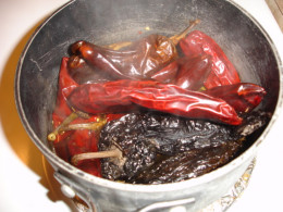 Authentic Mexican chilies cooking