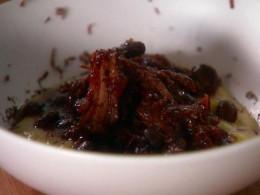 Authentic Mexican short rib chili with creamy polenta