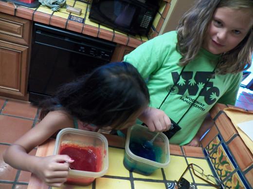 Step 3: Mix up until Jello dissolves. My kids were my mixers!