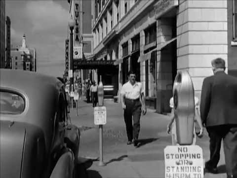 Tulsa, Oklahoma in the 1950s: Notice the parking meters; did you know those were invented in Oklahoma?