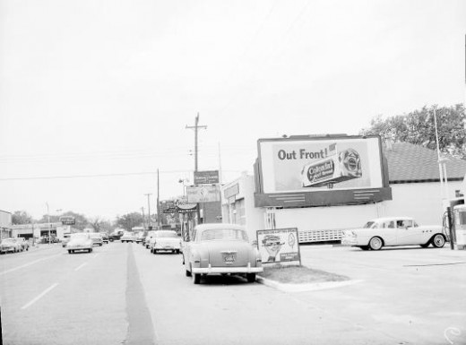 View looking past 2503 S. Walker, Oklahoma City, Oklahoma., May 2, 1955