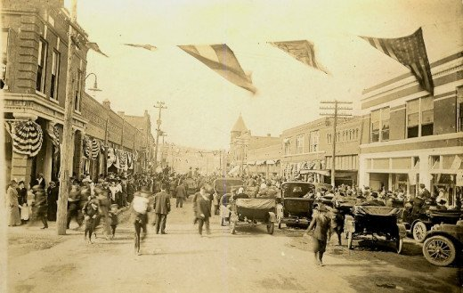 Shriners Day Parade, 1916, Downtown Poteau on Dewey Avenue