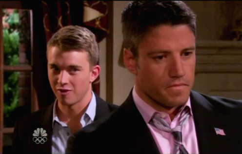 Will tells EJ he knows his secret.  EJ is not Stefano DiMera's son...