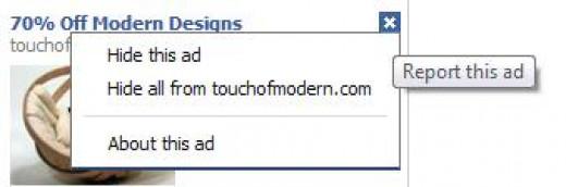 Facebook Remove Ad Options