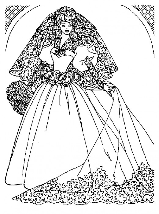 Beautiful Barbie Coloring Pages