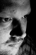 Dennis Skley, self portrait in black and white