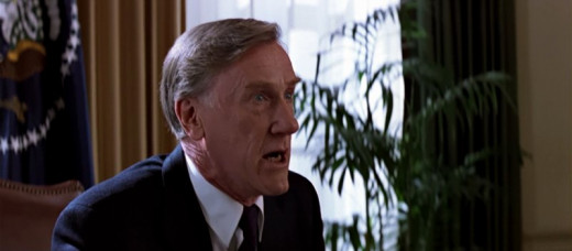 Donald Moffat as the President in Clear and Present Danger (1994)