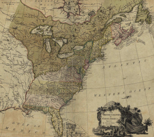 A Map of the British Colonies in America