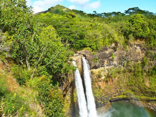 Wailua Falls--More of a Frontal View