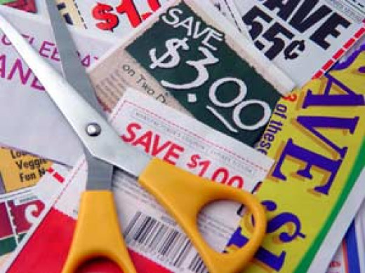 Clipping coupons from magazines