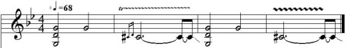 "Main riff of the song ""Black Sabbath"""