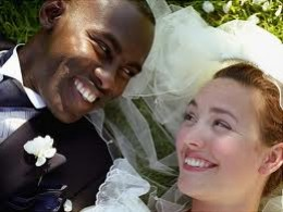 Black male and white female couple