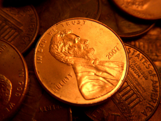some southerners probably did not like President Abraham Lincoln and really did try to get rid of their pennies as fast as they could