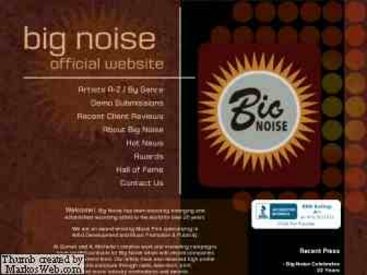 Big Noise Website markosweb.com