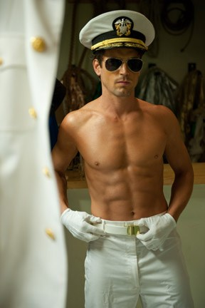 "Bomer strikes a serious pose on ""Magic Mike."""