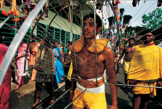 Every year, there is a parade in India where certain yoga adherents march with contraptions where spokes and knives pierce the body and they do not bleed. Other wonders are performed too.