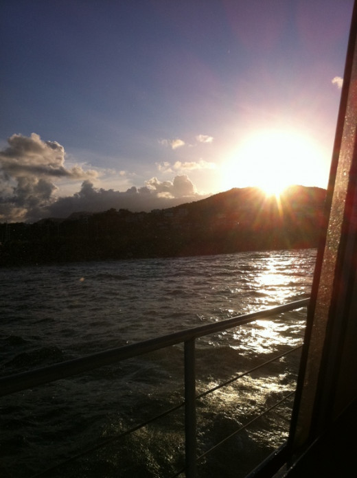 This is a view of the Island of Vieques from our ferry boat.