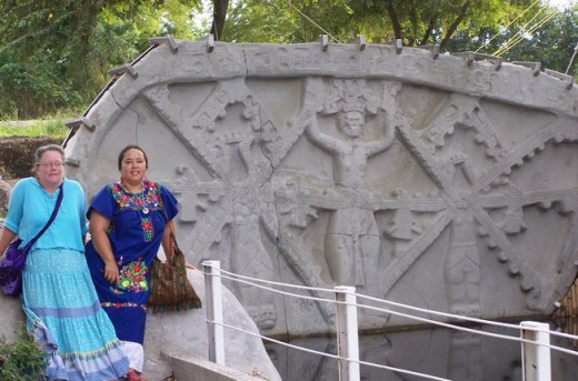 Water gate is hand carved and known as Monument 32 or Moon Calendar