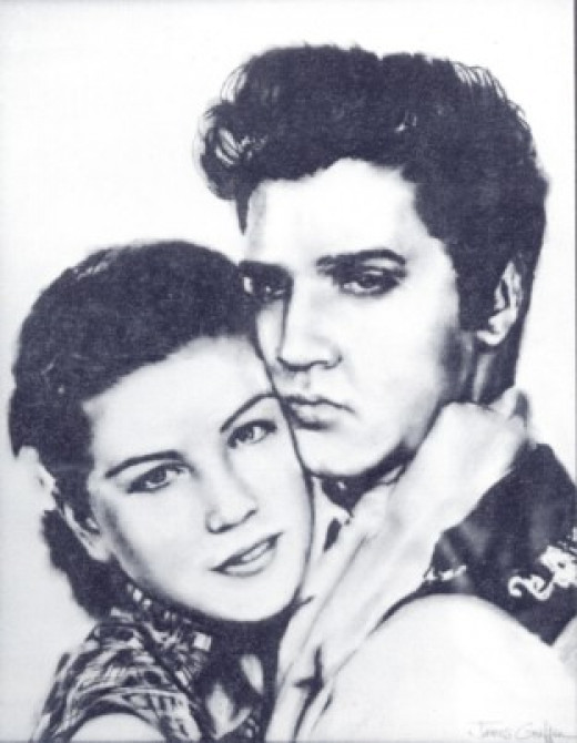 """Loving You"" Portrait by James R. Griffin             (April 9, 1939 - July 5, 2011)"