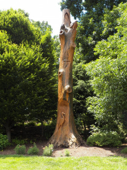 Carving from a white oak tree.