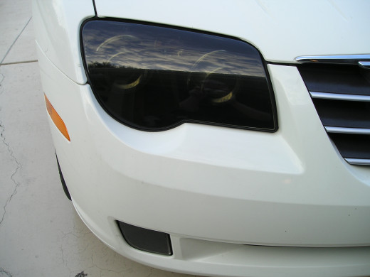 Chrysler Crossfire Pre-cut Tint in Static-Cling Blackout