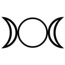 The Triple Goddess Symbol.