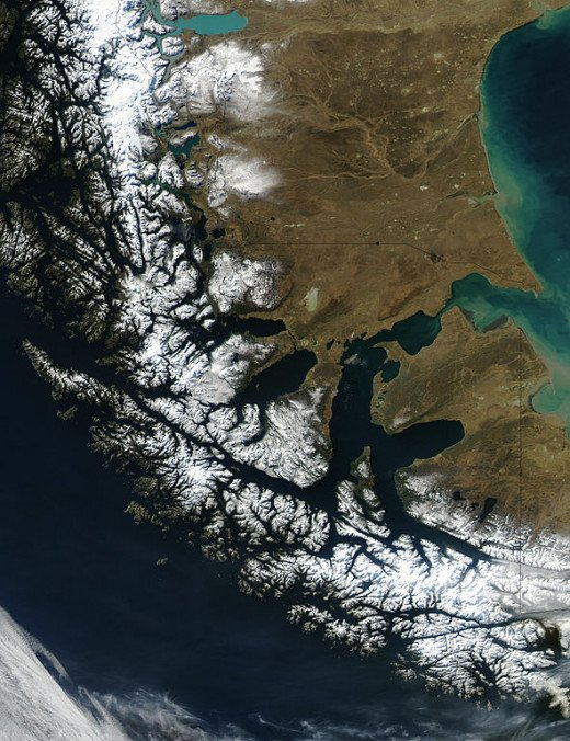 Extreme southern coast of Chile.