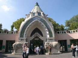 The entrance of the zoo