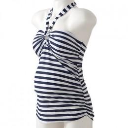 Oh Baby! by Motherhood: Striped Halterkini top and bottom swim set