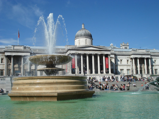 Trafalgar Square off of which the National Protrait Gallery is situated.