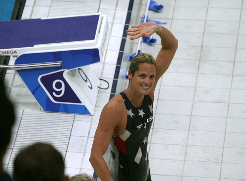 Dana Torres, oldest American swimmer to try for the Olympics n 2012.