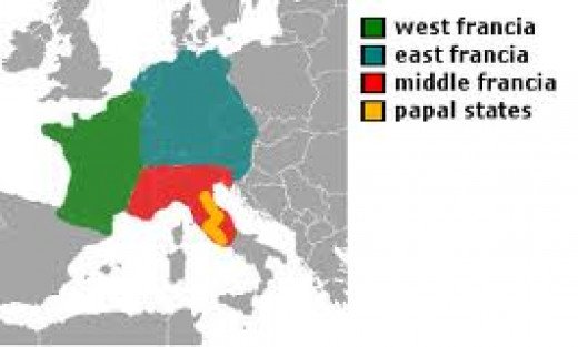 Frankia and its dependencies in Carolingian times