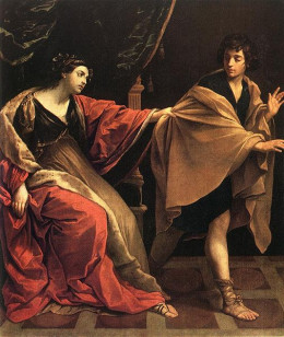 Joseph and Potiphar's Wife - oil on canvass- by Guido Reni - around 1631.