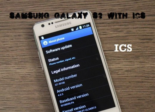 Update Samsung Galaxy S with Ice Cream Sandwich