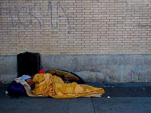 """Slobs,"" do not all sleep on sidewalks."