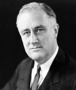 President Franklin D Roosevelt lead the US to victory in World War II, using the Manhattan Project (Atomic Bomb) as a statement to the global powers, that he had the last word, and that was to end all wars it might just take a big Bang!